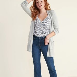 Old Navy | Long-Line Open-Front Sweater Grey | S